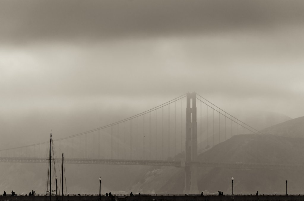 Not So Golden Gate Bridge